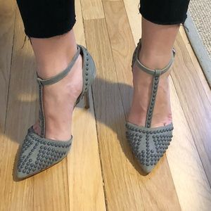 French connection grey suede heels